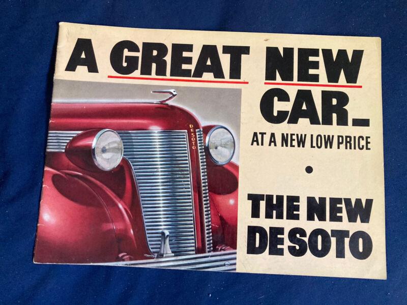 1937 DeSoto Large Prestige Original Color Brochure Catalog Prospekt