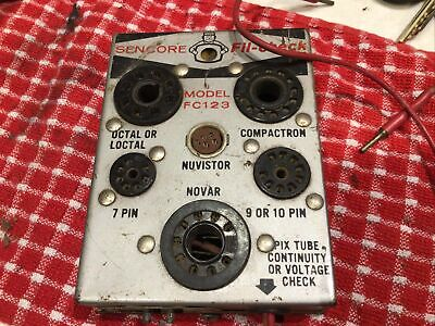 Vintage Sencore Fil-check Model Fc123 Tube Tester Radio Tv Vaccum Glass