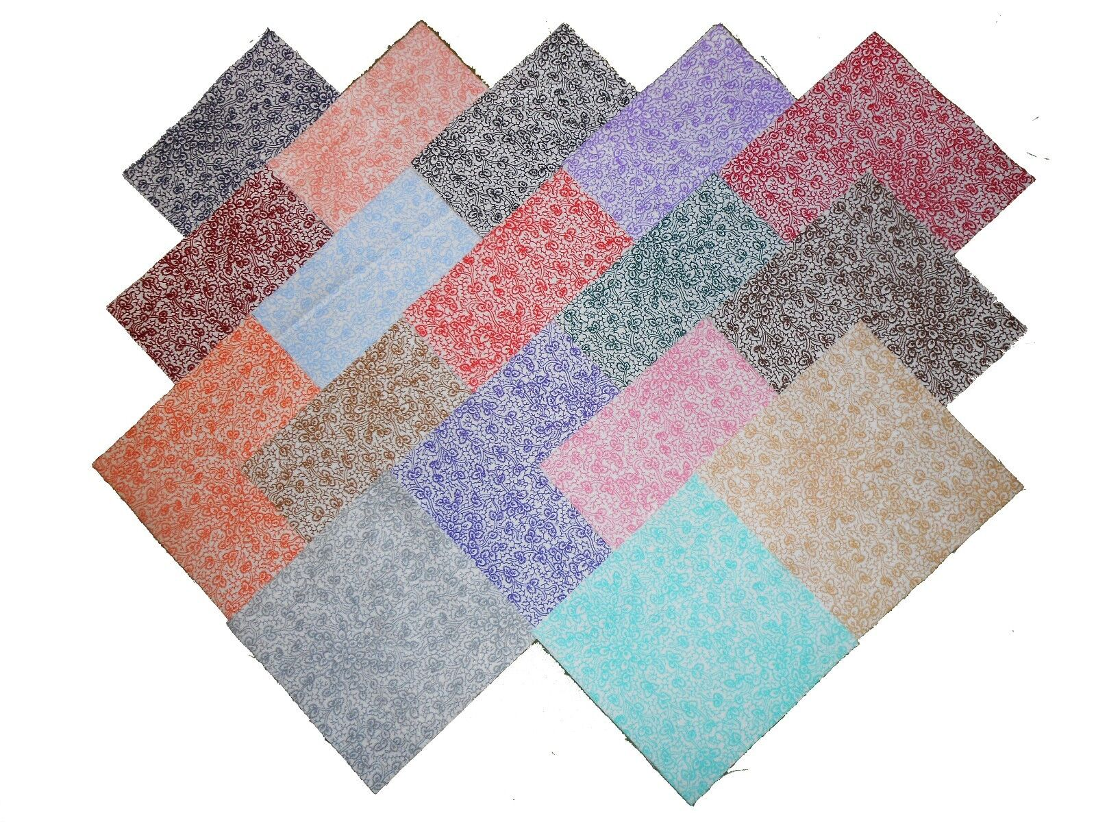 10 10X10 INCH Layer Cake World of Aqua Charm Pack-10 Different Patterns//Colors-1 of Each