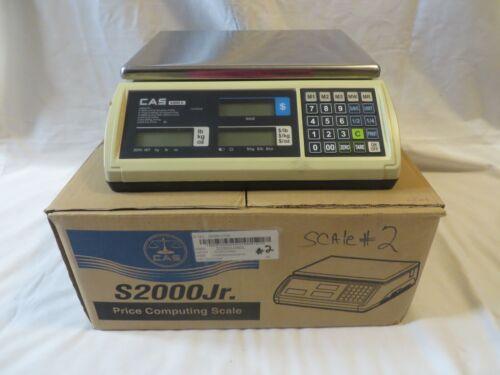 CAS S2000 Jr. Price Computing Scale in Original Box W/Power Cord