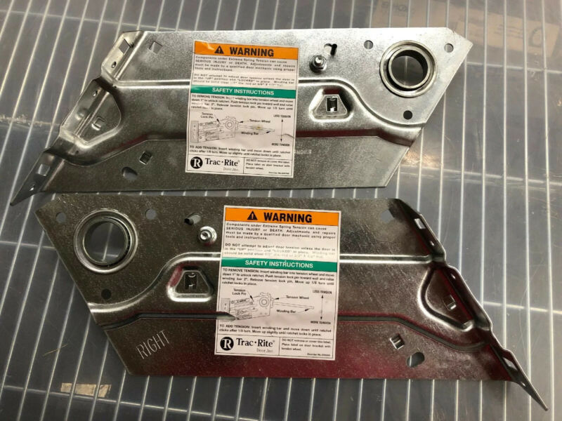 Trac Rite Storage Roll Up Door Right & Left Mounting Brackets 01182 12172