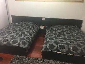 2 DOUBLE SIZE BEDS + NIGHTSTAND VERY GOOD CONDITION