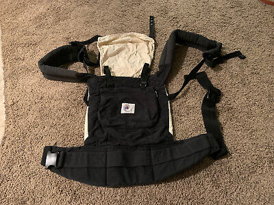 Ergobaby Original Black & Camel Cotton Baby Carrier Sling Ergo Baby