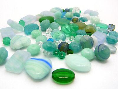 50 g Böhmische Glasperlen, Mix OCEAN GREEN, blau-grün-Töne; *3243 Ocean Green