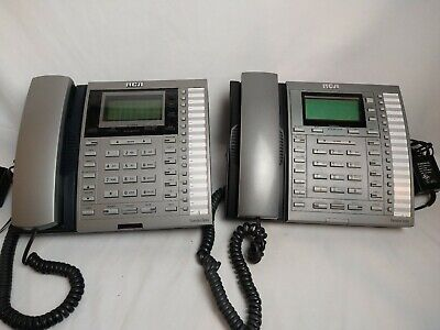 Rca Executive Series Intercom Multi Line Phone Lot Of 2 25404re3-a 25414re3-a