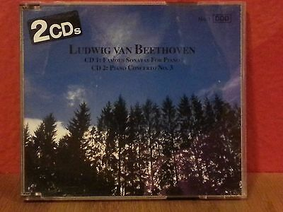 Beethoven:Famous Sonatas For Piano, Piano Concerto No.3. (2CDs) LIKE NEW  DB1060