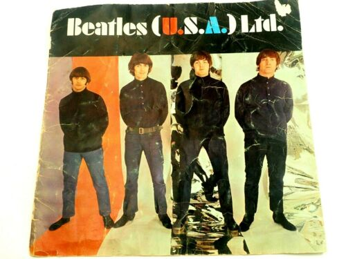 Beatles (U.S.A.) Ltd. Beatles 1966 USA Tour Book Cover