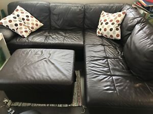 Mobler sectional leather sofa