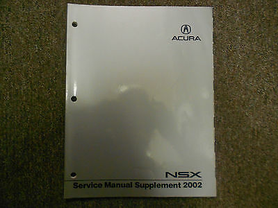2002 Acura NSX Service Repair Shop Manual Supplement FACTORY NEW BOOK 02 DEAL
