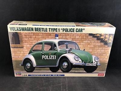"Hasegawa Volkswagen Beetle Type 1 ""Police Car"" 1:24 Scale Model Kit 20251 NIB"