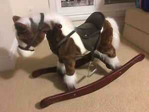 Rocking horse with sound and moving head