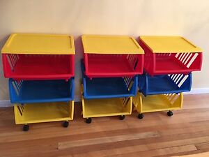 Toy or Craft organizer - fun colors, on wheels