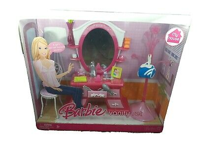 Barbie My House Vanity set - Furniture & Accessories #M4246, Mattel 2007 HTF New