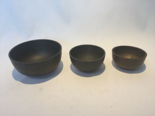 Japanese Vintage old Buddhist Altar Fitting Orin Bell Singing Bowl set 13