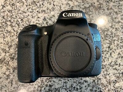 Canon EOS 70D 20.2MP Digital SLR Camera - Black - 65 Shutter Count!