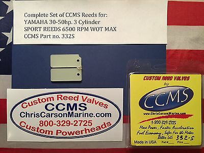 CCMS Yamaha Sport Outboard Reed Reeds 30-50hp 3 Cylinder PN332S