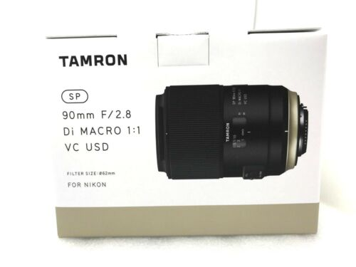 Tamron SP 90mm f/2.8 Di Macro VC USD Optical Macro Lens for Nikon F Black AFF017N700