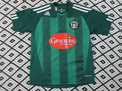 PLYMOUTH ARGYLE ENGLAND 2010/2011 FOOTBALL SHIRT JERSEY HOME ADIDAS ORIGINAL image