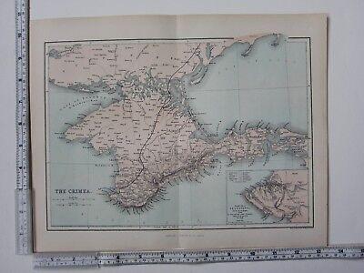 C1850 Antik Karte ~ Crimea Kaffa Einsatz Sebastopol Fort Paul Mamelon segunda mano  Embacar hacia Argentina