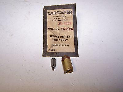 Carter Carburetor Needle & Seat # 25-537S - NOS