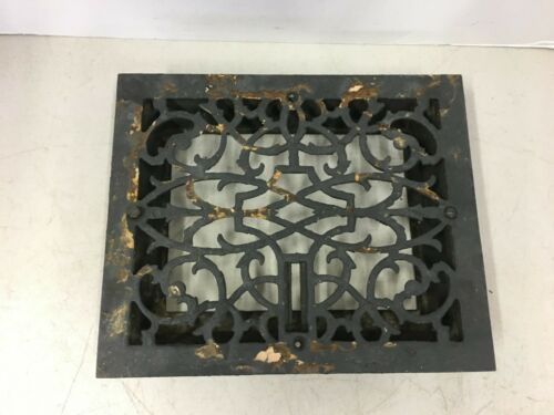 Vintage Antique Cast Iron Floor Grate Victorian Register Decorative Heat Vent