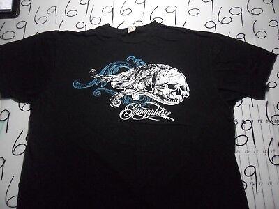 2XL- Green Apple Tree Skull Print T- Shirt