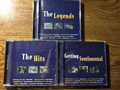 The Best Of Big Band CD Lot The Legend, The Hits, Getting Sentimental 3 CDs Lot