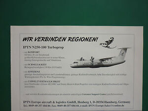 1998-PUB-IPTN-N250-100-TURBOPROP-INDONESIA-REGIONAL-AIRLINER-ORIGINAL-GERMAN-AD
