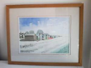 Beachy watercolor,  original painting Lindfield Ku-ring-gai Area Preview