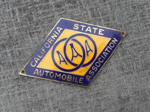CALIFORNIA STATE AUTOMOBILE ASSOCIATION BADGE LICENSE PLATE TOPPER