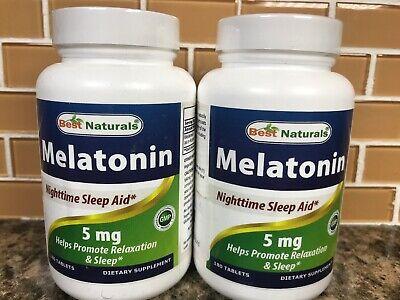 Best Naturals Melatonin 5mg Nighttime Sleep Aid - 120 tablets (2 pack) Exp