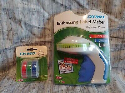 Dymo - Embossing Label Maker 3 Pack 3d Refills Dymo New