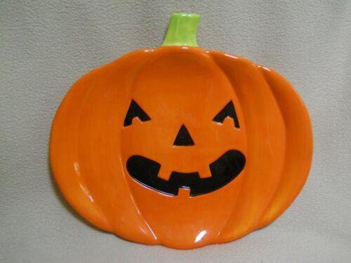 Large PUMPKIN Ceramic Platter / Halloween