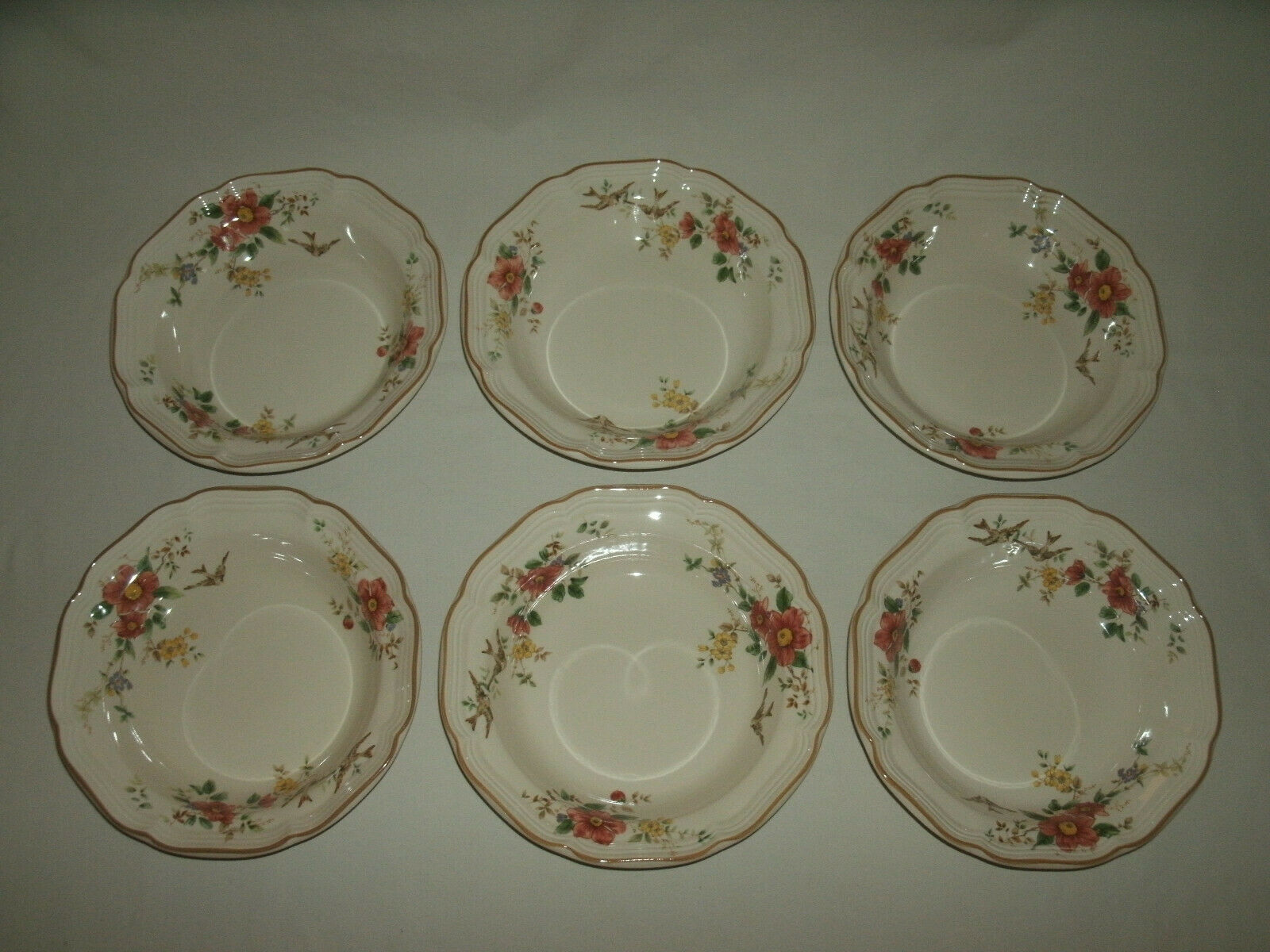 Set Of 6 Mikasa Heritage Capistrano China Soup Bowls Made In Japan 2 - $85.00