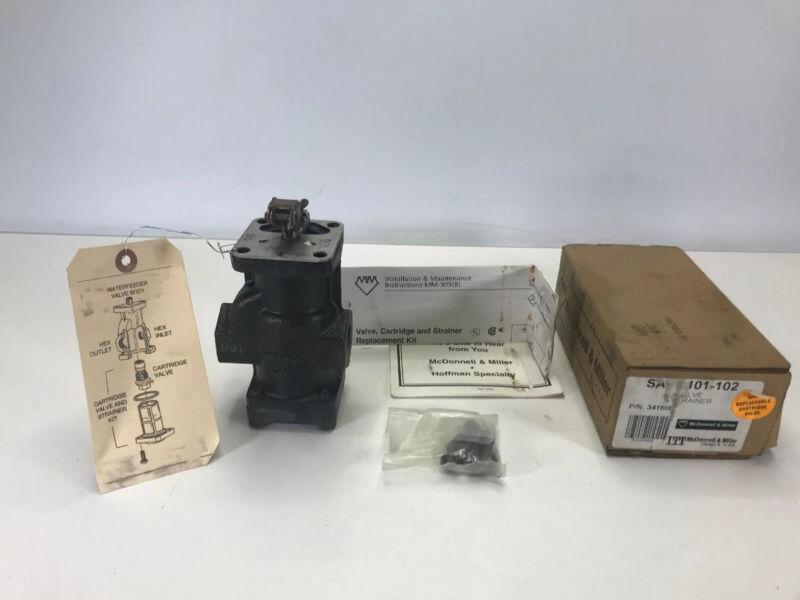 McDonnell & Miller 341600 Model SA47-101-102 Valve Assembly& Strainer NEW