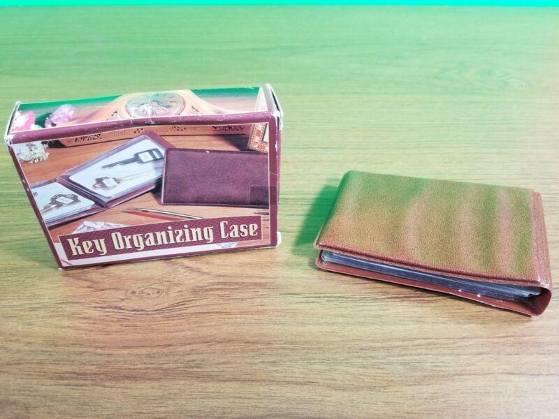 Vintage Key Organizer wallet plastic brown  (R6)