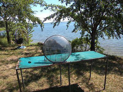 """1940s-50s  Porthole TV Screen Glass Round Curved With Gasket 21"""" For Project? for sale  Shipping to South Africa"""