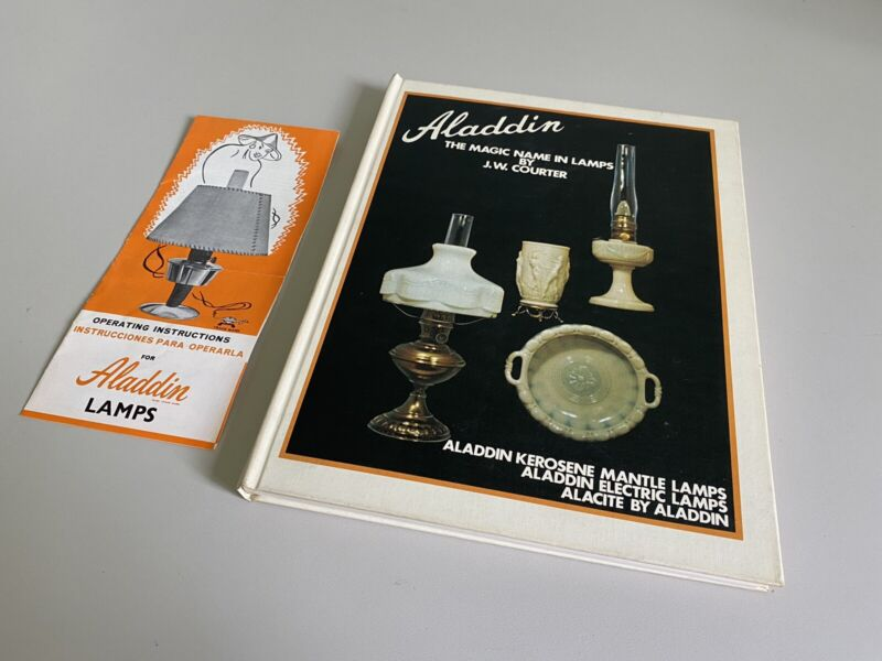 Aladdin, The Magic Name in Lamps by J.W. Courter (Hardcover, 1971) w/ Paperwork