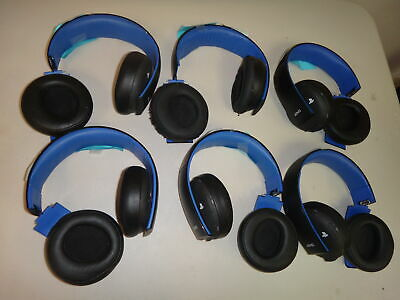 PlayStation 4 Gold Wireless Stereo Headset BULK - 6 Headsets USED/DAMAGED