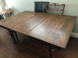 Solid wood antique table