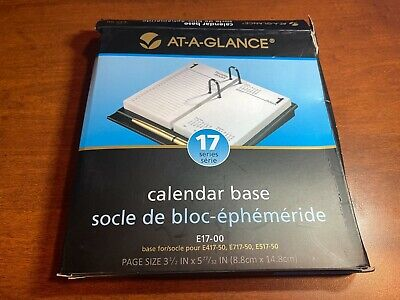 At A Glance E17-00 Calendar Base Black Fast Free Same Day Shipping Open Box