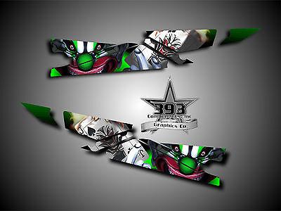 Arctic Cat ProClimb ProCross Tunnel Graphics Kit Wrap Evil Joker Green 2012-15