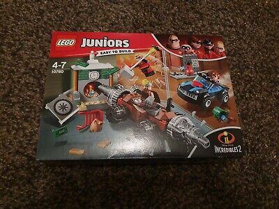 New Boxed LEGO Juniors Incredibles 2 Underminer Bank Heist Set – 10760.