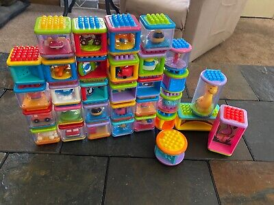 Fisher Price Bristle Building Blocks Stackable Lot Of 29 Toys Animals