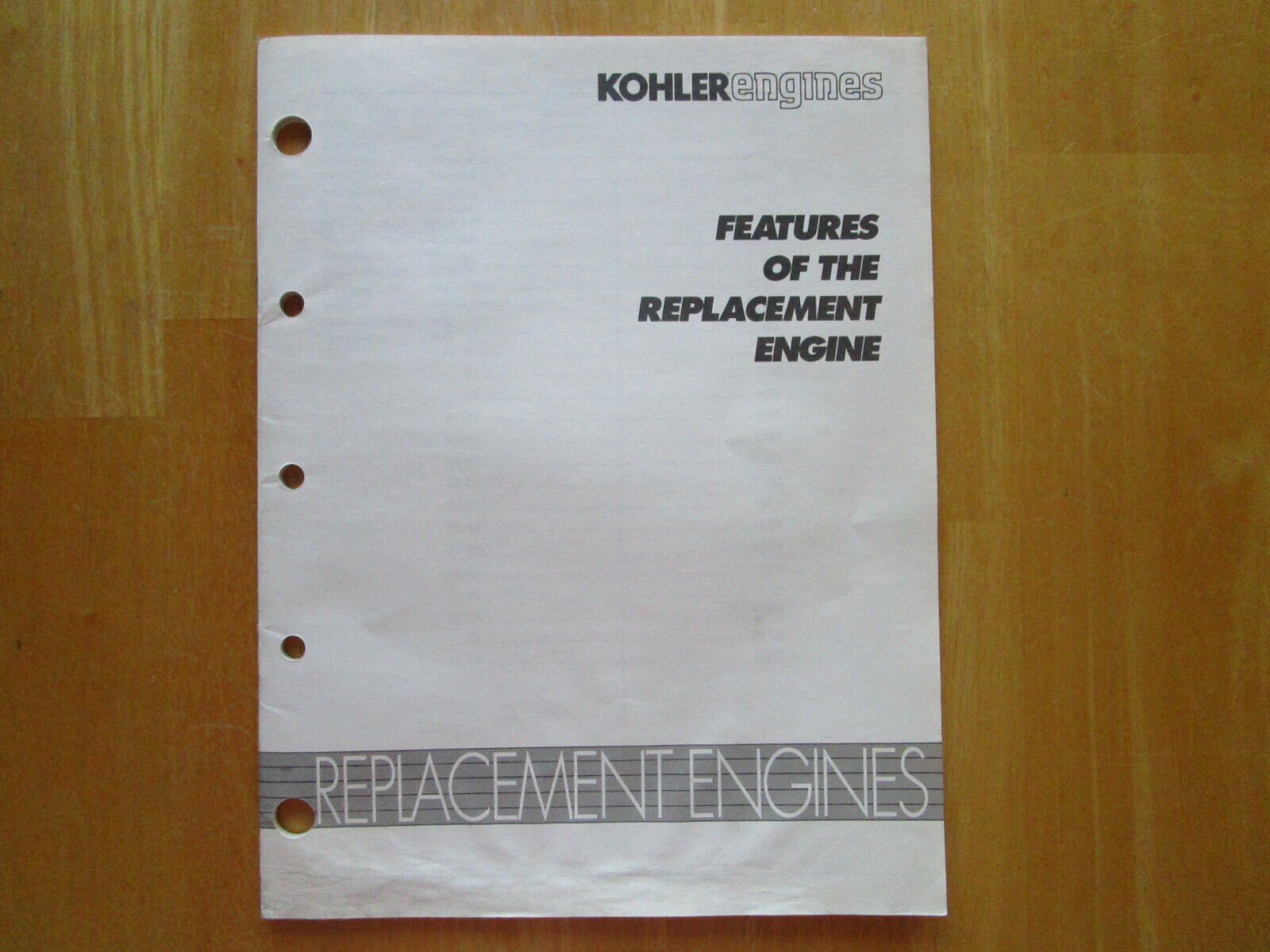 Kohler Engines Features Of The Replacement Engine Guide/ Manual Many Models