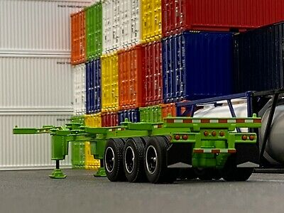 1/64 DCP LIME GREEN 40' TRI AXLE CONTAINER TRAILER