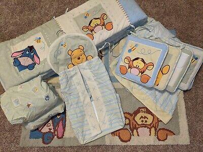 DISNEY WINNIE THE POOH Crib Bedding Set 11 Pieces Nursery Decor Unisex