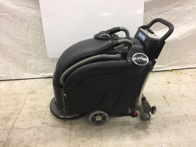 """Used Powr-Flite PAS17BA-BC Walk Behind Automatic Scrubber 17"""" Pad Driver Battery"""