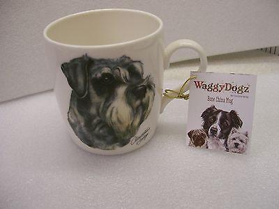 Schnauzer Mug Fine Bone mug with adorable Schnauzer or miniature Schnauzer