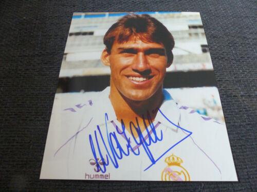RAFAEL MARTIN VAZQUEZ signed Autogramm auf 20x25 REAL MADRID Bild InPerson LOOK